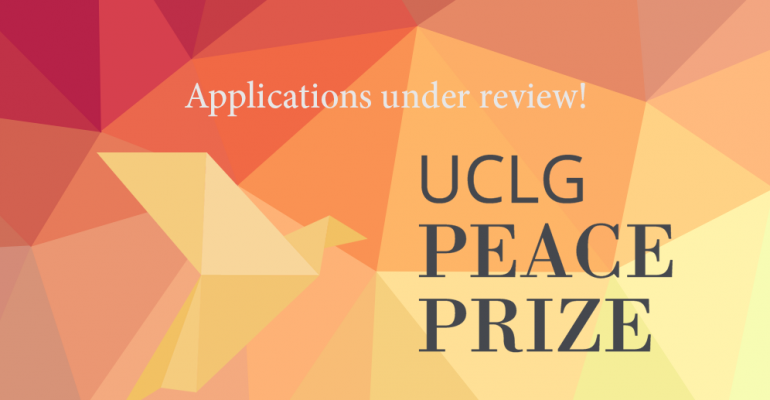 Congratulations to all entrants to the UCLG Peace Prize 2019!